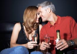 Cena romántica limusina